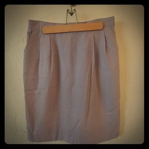 Lavender linen skirt with pockets